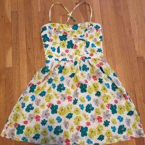 American Eagle Floral Spaghetti Strap Mini Dress